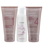 Alfaparf Milano Lisse Design Keratin Therapy set for hair straightening 40 ml + 100 ml + 40 ml