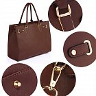 Anna Grace AG00521 handbag tote dark brown