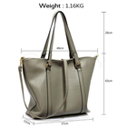 L&S Fashion LS00413 handbag shoulder grey
