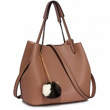 Anna Grace AG00190 handbag shoulder nude