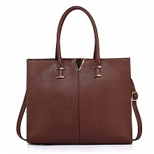 Anna Grace AG00319C handbag shoulder dark brown
