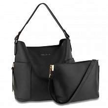 Anna Grace AG00696 handbag shoulder black
