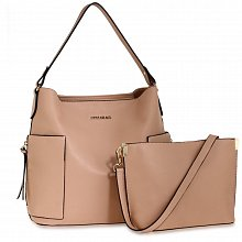 Anna Grace AG00696 handbag shoulder nude