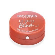 Bourjois Le Duo Blush 02 Romeo et Peachette pudrowy róż 2in1 2,4 g