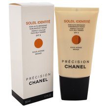 Chanel Soleil Identite Perfect Colour Face Self-Tanner Soleil Intense Bronze barnító krém arcra 50 ml
