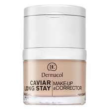 Dermacol Caviar Long Stay Make-Up & Corrector 0,0 Ivory hosszantartó make-up és korrektor kaviár kivonattal 30 ml