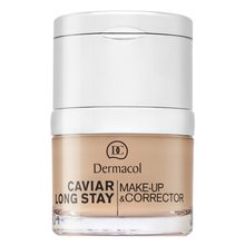 Dermacol Caviar Long Stay Make-Up & Corrector 1 Pale make-up s výtažky z kaviáru a zdokonalující korektor 30 ml