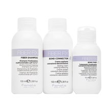 Fanola Fiber Fix Professional Intro Kit set for chemically treated hair 70 ml + 100 ml + 100 ml