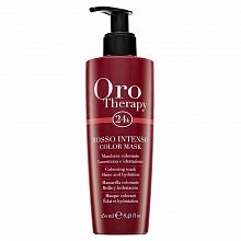 Fanola Oro Therapy Colouring Mask Rosso Intenso pflegende Haarmaske für Wiederbelebung der Farbe 250 ml