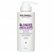 Goldwell Dualsenses Blondes & Highlights 60sec Treatment maschera per capelli biondi 500 ml