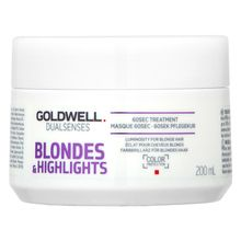 Goldwell Dualsenses Blondes & Highlights 60sec Treatment maszk szőke hajra 200 ml