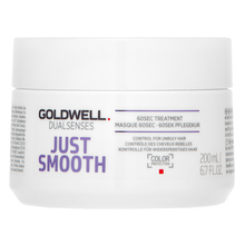 Goldwell Dualsenses Just Smooth 60sec Treatment mască de netezire pentru păr indisciplinat 200 ml