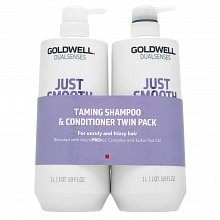 Goldwell Dualsenses Just Smooth Taming Duo Set für widerspenstiges Haar 2 x 1000 ml