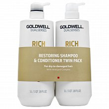 Goldwell Dualsenses Rich Repair Restoring Duo set pentru păr deteriorat 2 x 1000 ml
