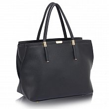 L&S Fashion LS00277 handbag shoulder black