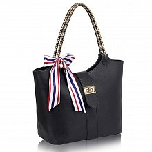 L&S Fashion LS00278 handbag shoulder black
