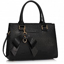 L&S Fashion LS00374B handbag tote black