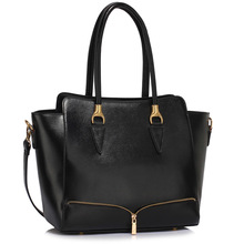 L&S Fashion LS00456 handbag shoulder black