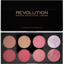 Makeup Revolution Ultra Blush Palette Sugar & Spice multifunkční paleta 13 g