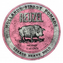 Reuzel Pink Pomade hair pomade for strong fixation 340 g