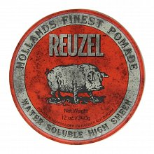 Reuzel Holland's Finest Pomade Red Water Soluble High Sheen помада за коса За сияен блясък 340 g