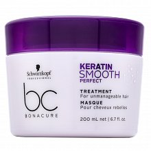 Schwarzkopf Professional BC Bonacure Keratin Smooth Perfect Treatment hajsimító maszk rakoncátlan hajra 200 ml