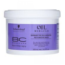 Schwarzkopf Professional BC Bonacure Oil Miracle Barbary Fig Oil & Keratin Restorative Mask mask for very dry and brittle hair 500 ml
