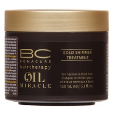 Schwarzkopf Professional BC Bonacure Oil Miracle Gold Shimmer Treatment maska pre hrubé vlasy 150 ml