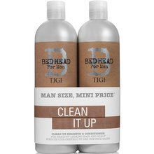 Tigi Bed Head B for Men Clean Up Shampoo & Conditioner šampon a kondicionér pro každodenní použití 750 ml + 750 ml
