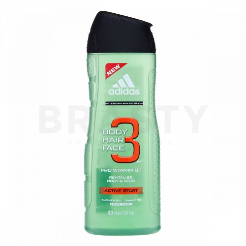 Adidas 3 Active Start душ гел за мъже 400 ml