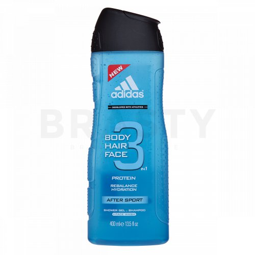 Adidas 3 After Sport Gel de duș bărbați 400 ml