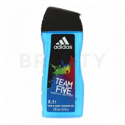 Adidas Team Five gel doccia da uomo 250 ml