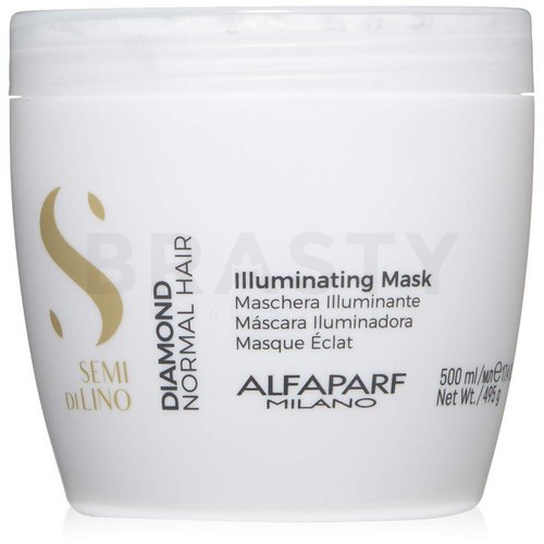 Alfaparf Milano Semi Di Lino Diamond Illuminating Mask pflegende Haarmaske für den Haarglanz 500 ml