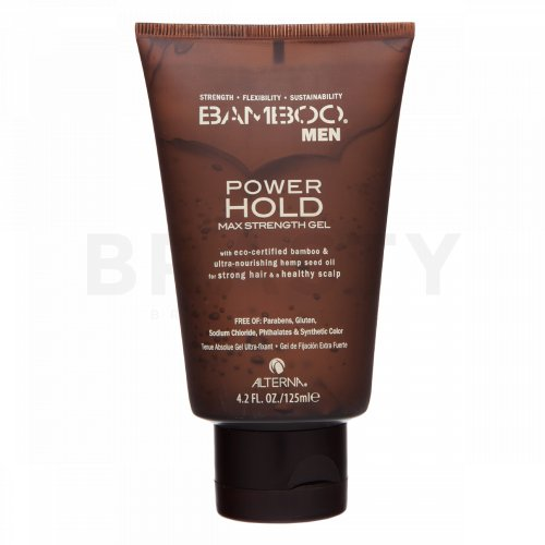 Alterna Bamboo Men Power Hold Max Strenght Gel gel na vlasy pro extra silnou fixaci 125 ml