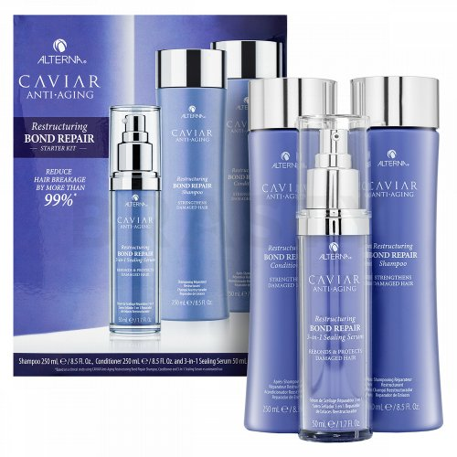 Alterna Caviar Restructuring Bond Repair Stylist Starter Kit set pentru păr deteriorat 250 ml x 250 ml x 50 ml