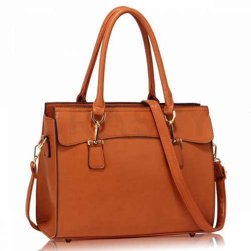 Anna Grace AG00342 handbag shoulder natural brown
