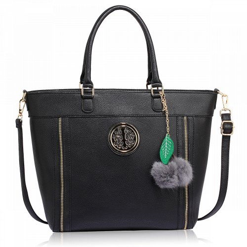 Anna Grace AG00404 handbag tote black