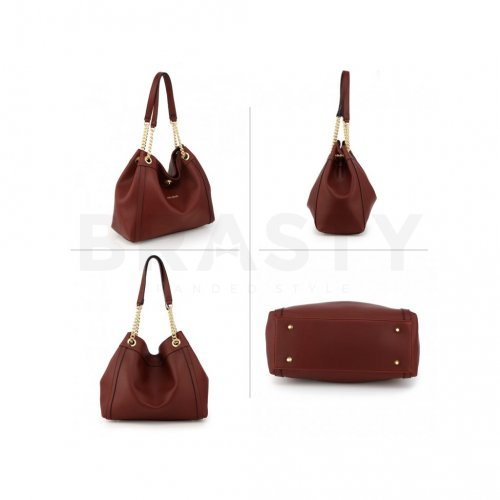 Anna Grace AG00561 handbag shoulder burgundy