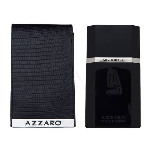 Azzaro Silver Black Leather Collector Edition Eau de Toilette bărbați 100 ml