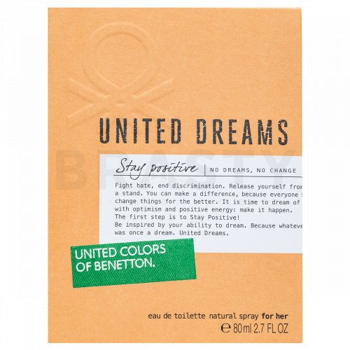 Benetton United Dreams Stay Positive Eau de Toilette für Damen 80 ml