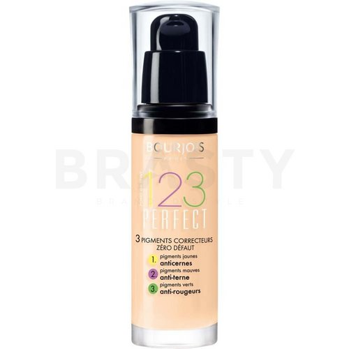 Bourjois 123 Perfect Foundation 51 Light Vanilla Flüssiges Make Up für Unregelmäßigkeiten der Haut 30 ml