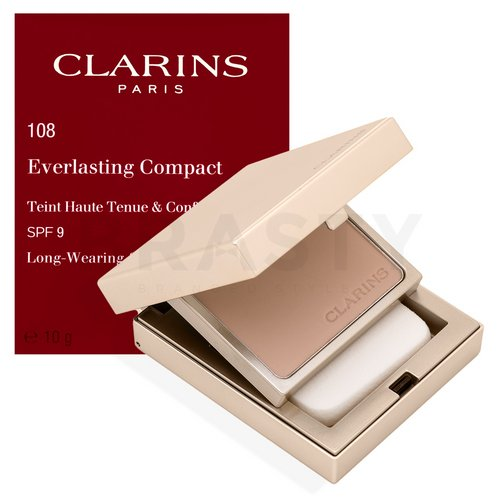 Clarins Everlasting Compact Foundation 108 Sand Puder-Make-up 10 g