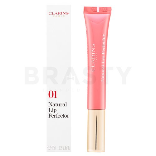 Clarins Natural Lip Perfector 01 Rose Shimmer Lipgloss mit Perlglanz 12 ml