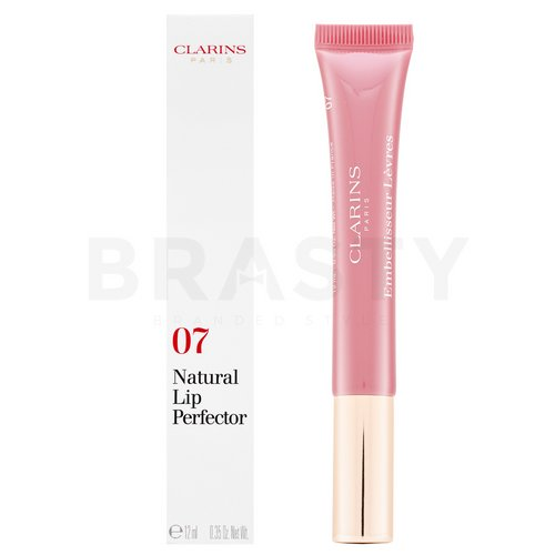 Clarins Natural Lip Perfector 07 Toffee Pink Shimmer lesk na pery s perleťovým leskom 12 ml