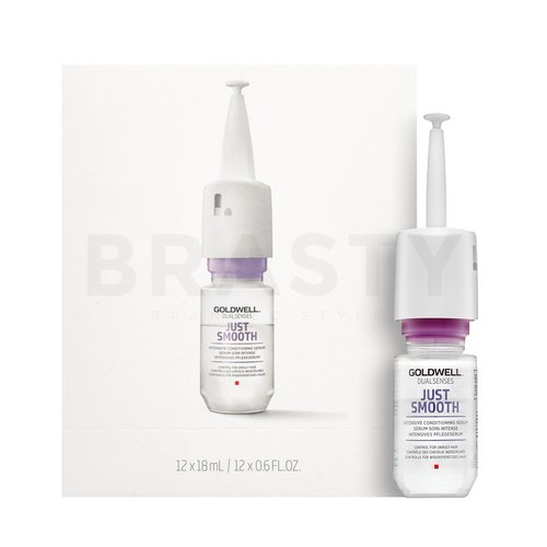 Goldwell Dualsenses Just Smooth Intensive Taming Serum ser de netezire impotriva incretirii părului 12 x 18 ml