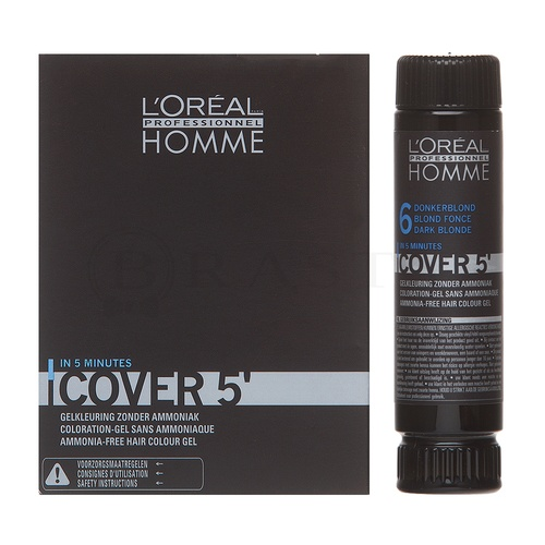 L´Oréal Professionnel Homme Cover 5 Haarfarbe No. 6 Dark Blond 3 x 50 ml