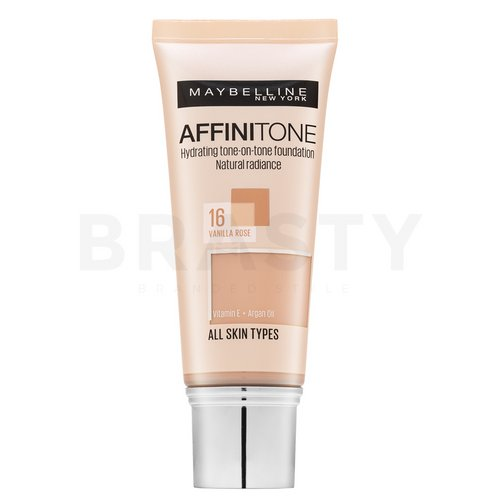 Maybelline Affinitone 16 Vanilla Rose Flüssiges Make Up mit Hydratationswirkung 30 ml