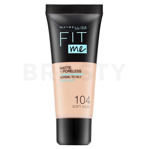 Maybelline Fit Me! Foundation Matte + Poreless 104 Soft Ivory fond de ten lichid cu efect matifiant 30 ml