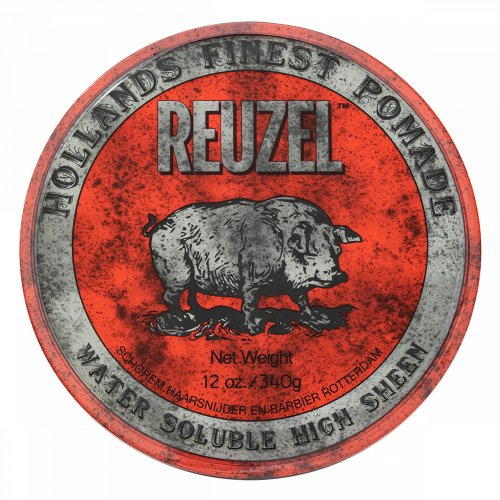 Reuzel Holland's Finest Pomade Red Water Soluble High Sheen pomadă de păr 340 g